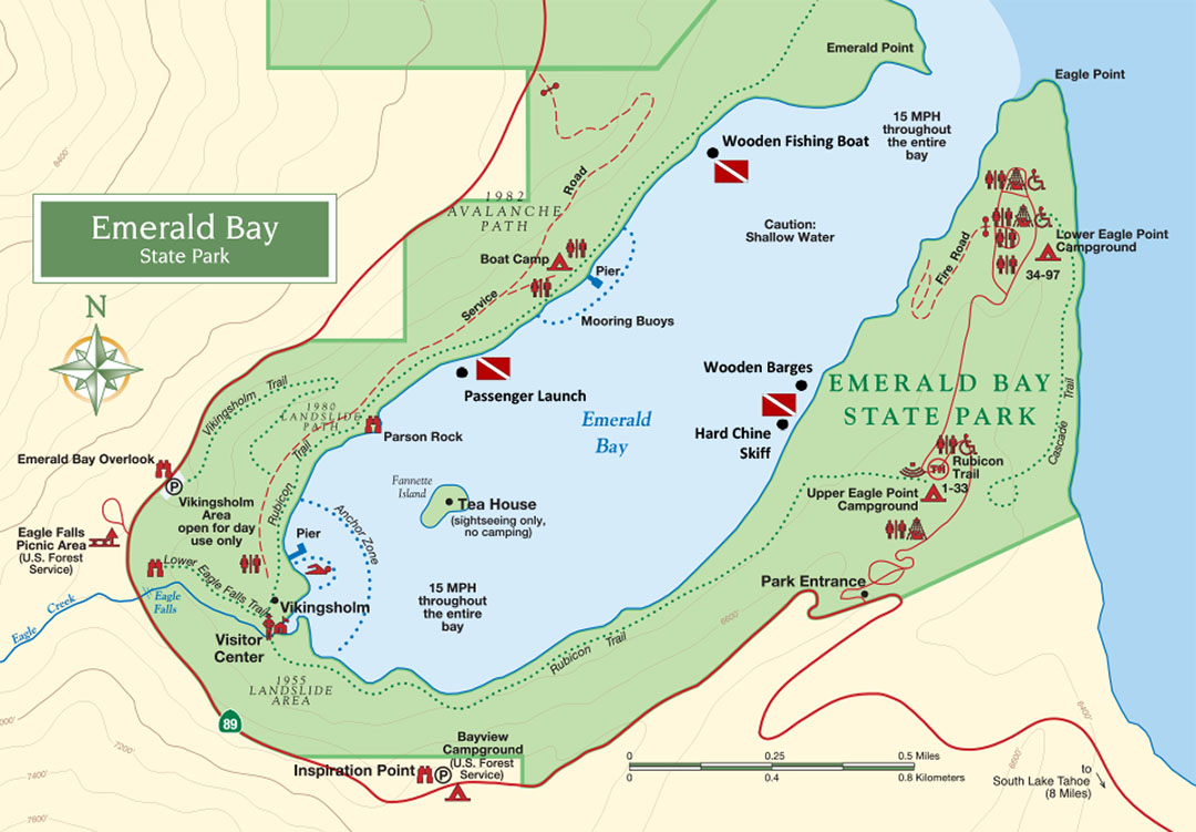 Emerald Bay Dive site map image