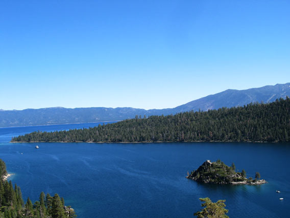 Partial View of Emerald Bay and Fannette Island.