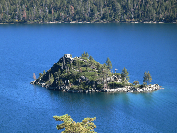 Fannette Island with Tea House.