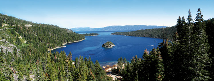 Panoramic View of Emerald Bay.