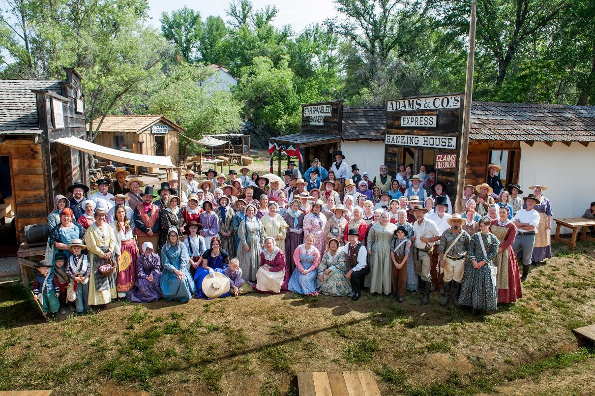Annual Reenactment of an 1852 Gold Rush Tent Town-May 18-21 2017 & Columbia Diggins