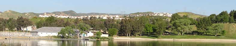 View at the lower lake parking lot at Castaic Lake SRA