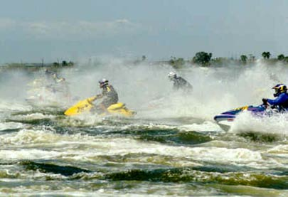 Thumbnail: Personal watercraft racing at Salton Sea