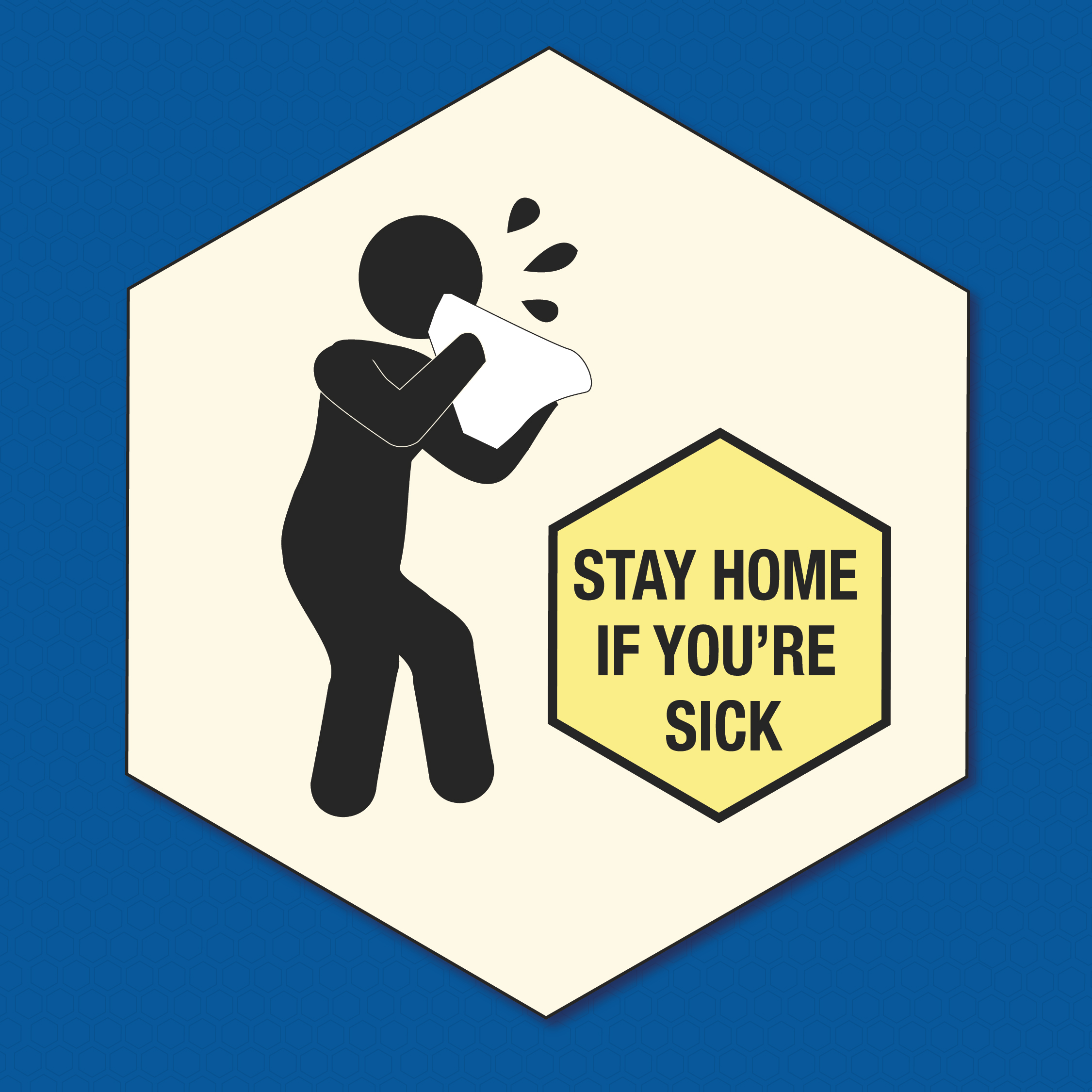Stay if sick graphic