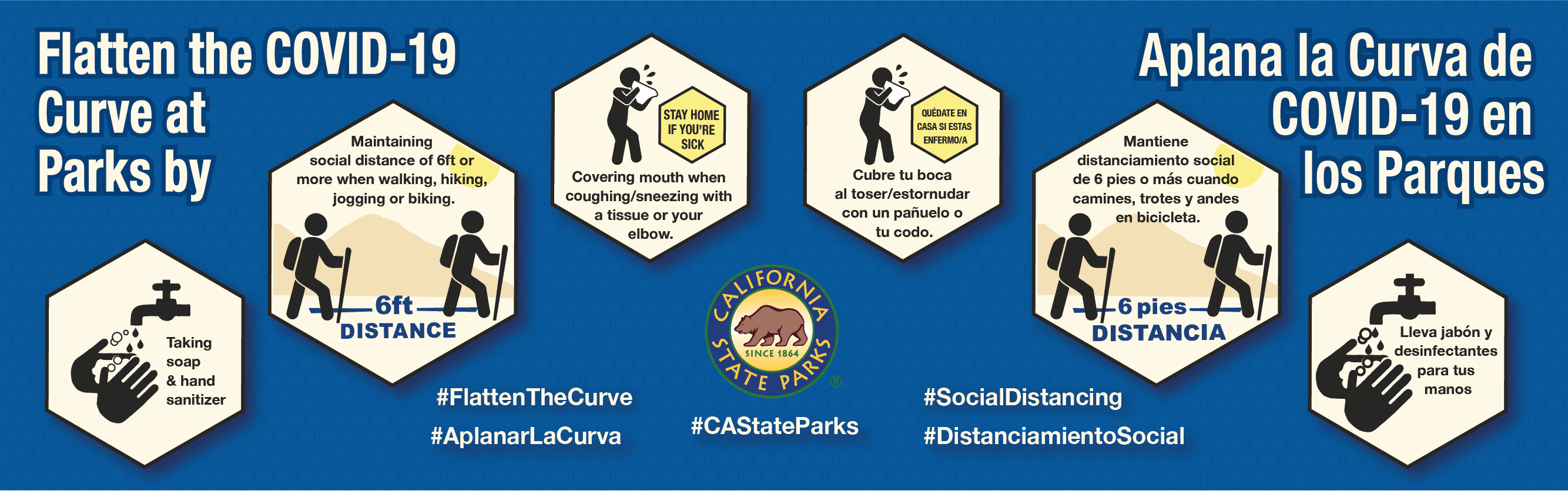 Banner for UPDATE: California State Parks Closes Additional Beaches and Parks: Public Reminded to Practice Safe, Physical Distancing