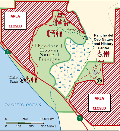 The Marsh Trail, pedestrian road to Highway 1, Nature Center and Waddell Beach are the only areas visitors will be allowed to access beginning Memorial Day weekend.