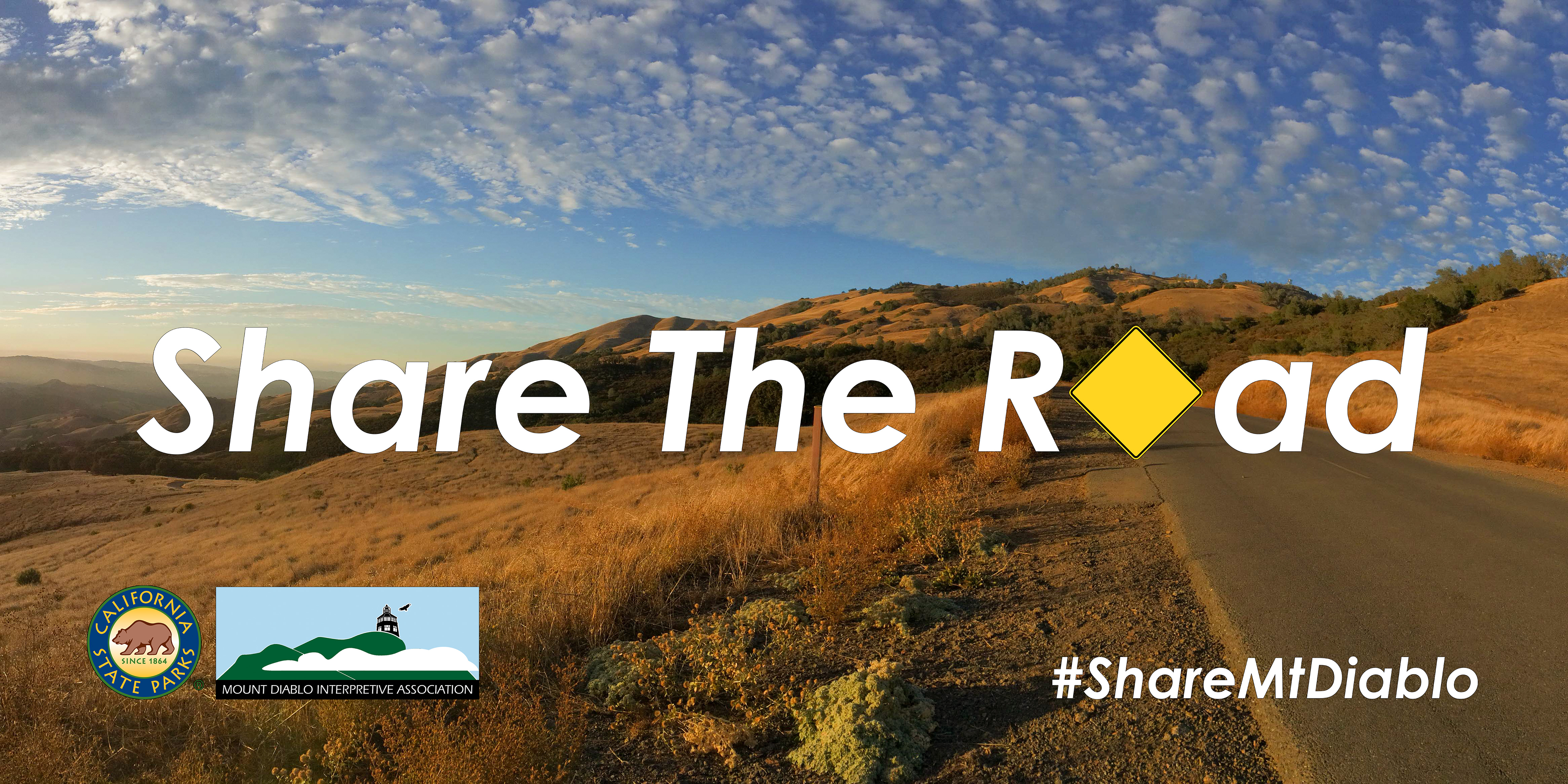 "Banner for Mount Diablo State Park Invites Visitors to  ""Help Make 2018 Accident Free"" - Ride, Drive and Hike Safely in the New Year"