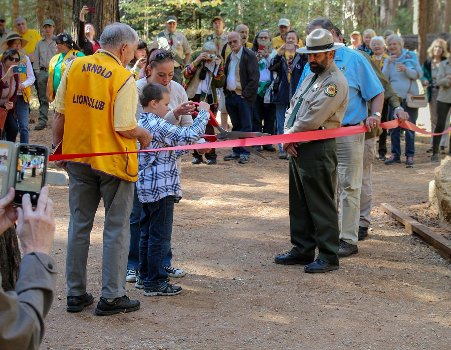 Banner for Calaveras Big Trees State Park Officially Reopens the  Three Senses Trail