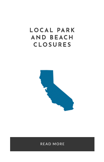 Local Beaches and parks closures