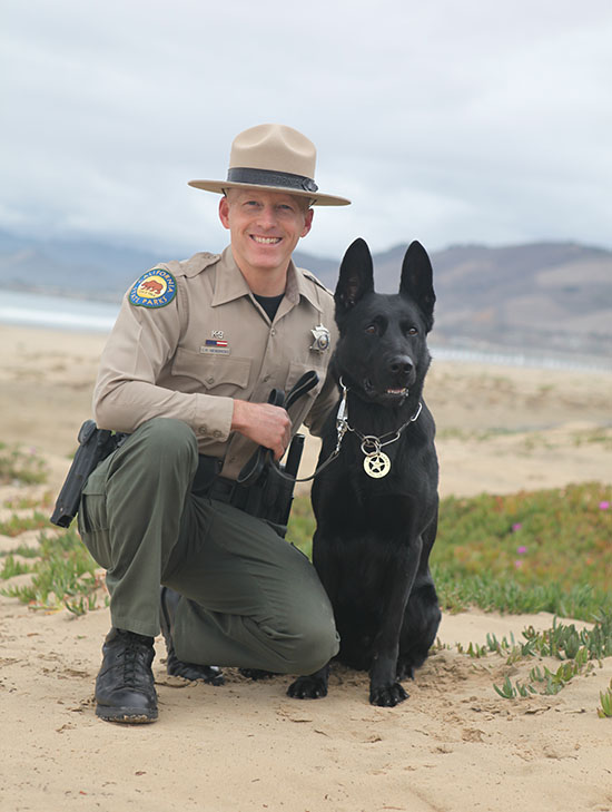 Ranger Hendricks with K9