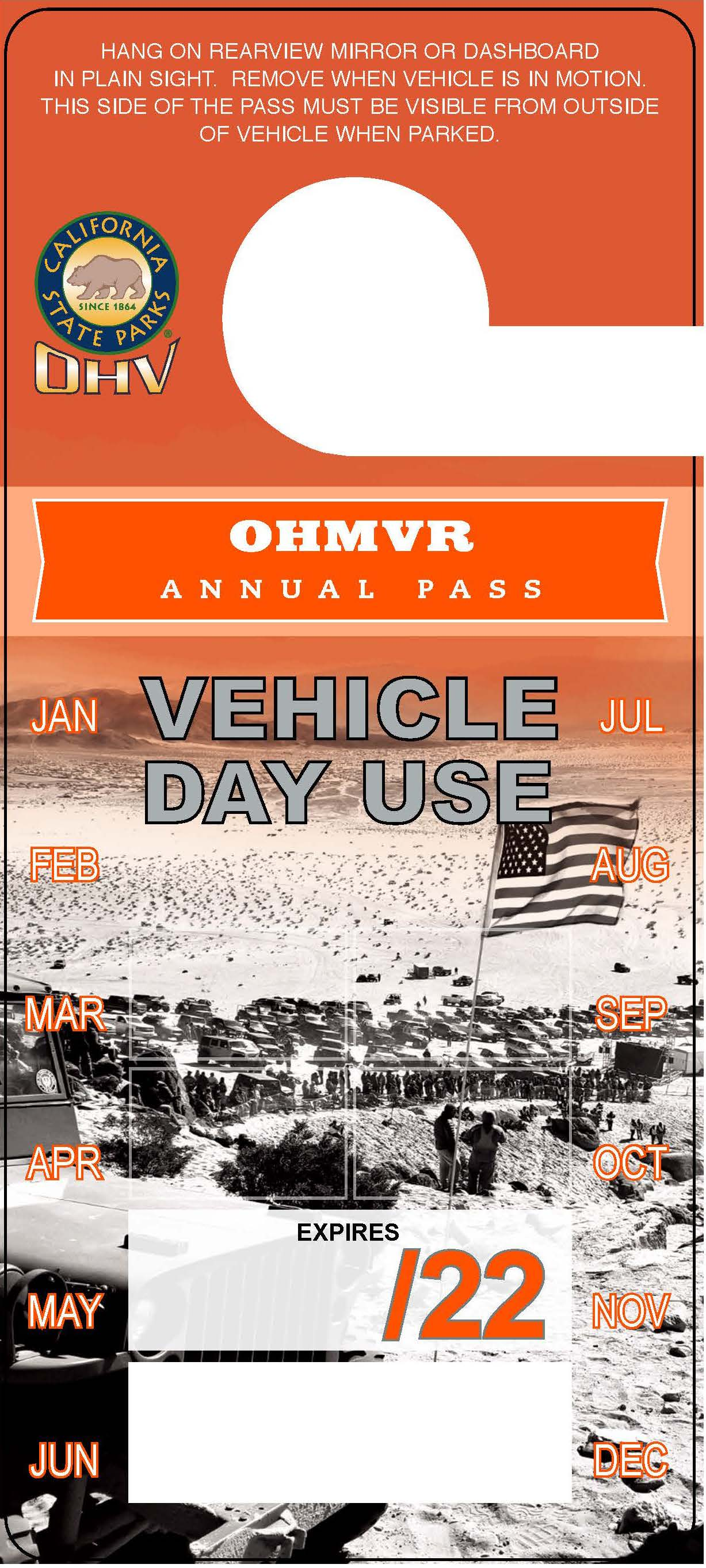 OHV Annual Pass Hangtag Image