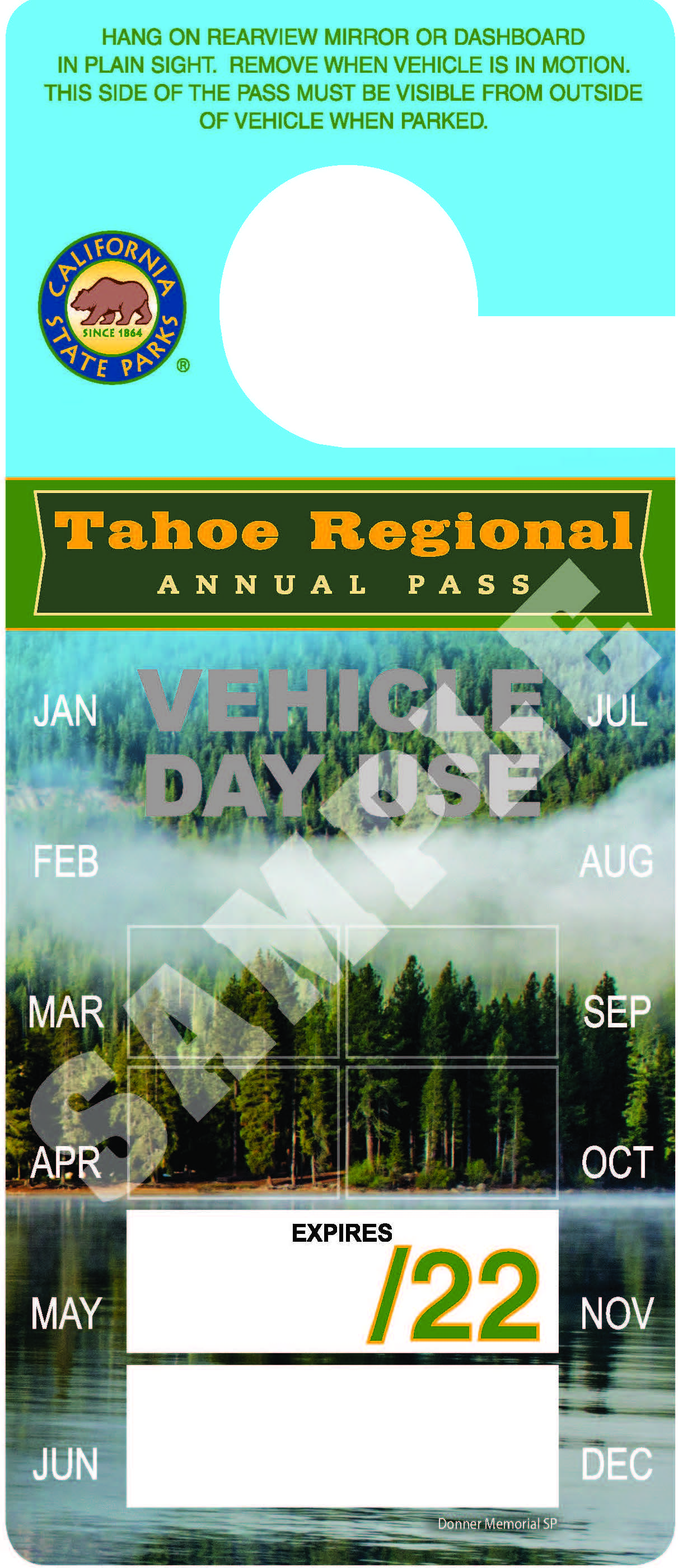 Tahoe Regional Annual Park Pass Image